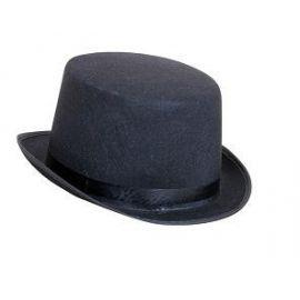 Sombrero copa fieltro negro