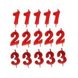 Velas rojas de numeros