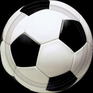 Platos futbol 22,8 cm (pack 8 unid.)