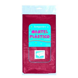 Mantel plastico burdeos