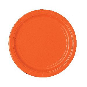 Platos naranja 22,5 cm (10 unid.)