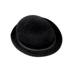 Sombrero bombin flocado adulto