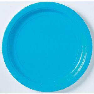 Platos azul caribe 22,5 cm (10 unid)