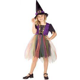 Disfraz bruja linda niña
