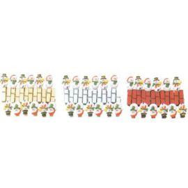 Pinzas muñeco de nieve (12 unid)