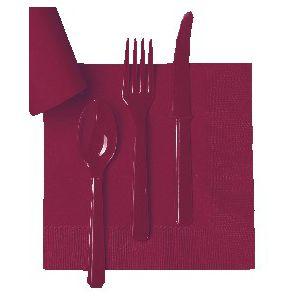 Tenedores burdeos (10 unid)