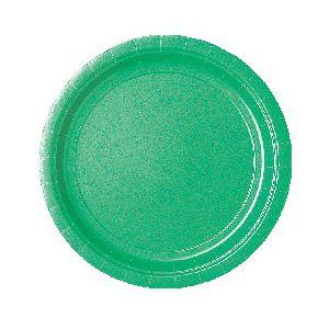 Platos verdes 22,5 cm (10 unid.)