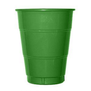 Vaso grande verde (10 unid)