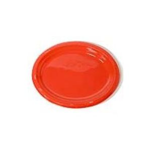 Bandeja ovalada rojo (5 unid)