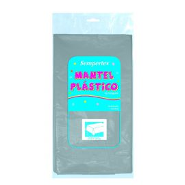 Mantel plastico plata