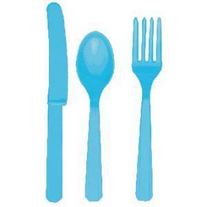 Tenedores azul caribe (10 unid.)