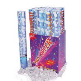 Cañon confetti blanco 40 cm