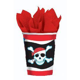 Vasos piratas (8 unid)
