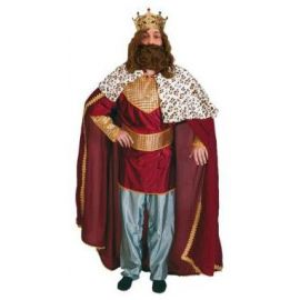 Disfraz rey mago adulto bt burdeos