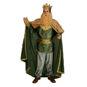 Disfraz rey mago adulto bt verde