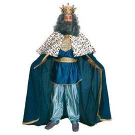Disfraz rey mago adulto bt azul