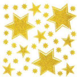 Adhesivo estrellas oro