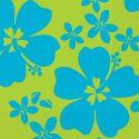 Servilletas hibiscus azul (16 uds)
