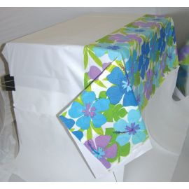 Mantel hibiscus azul