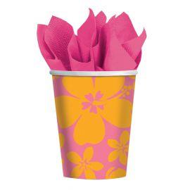 Vasos hibiscus rosa (pack 8 unid.)
