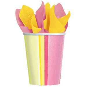 Vasos sunny stripe (pack 8 unid.)