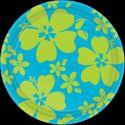Platos hibiscus azul 26,6 cm (8 unid.)