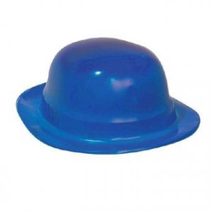 Sombrero bombin unicolor azul
