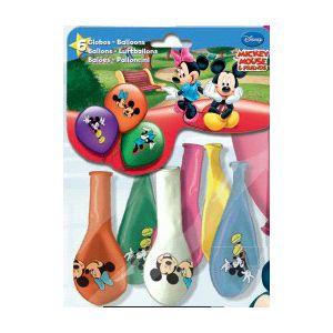Globos mickey color (6 uds)