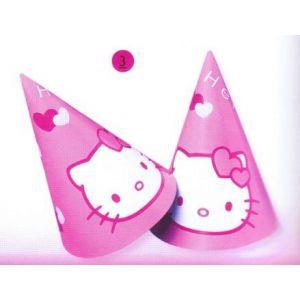 Sombrero cono hello kitty (6 unid)