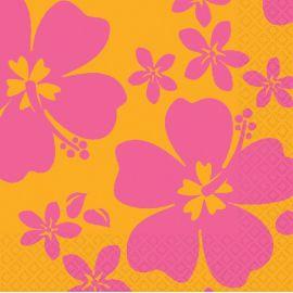 Servilletas hibiscus rosa (16 unid)