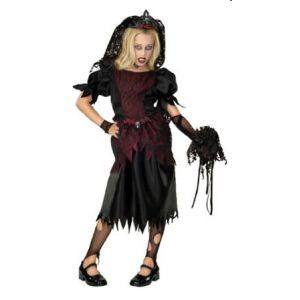 Disfraz novia vampira infantil