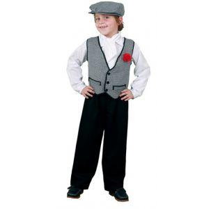 Disfraz chulapo sencillo con clavel