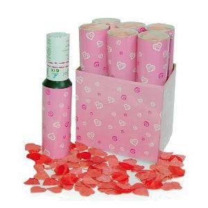Cañon confetti petalos 30 cm.