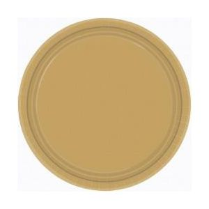 Platos dorados cartón 22,8 cm (8 uds)