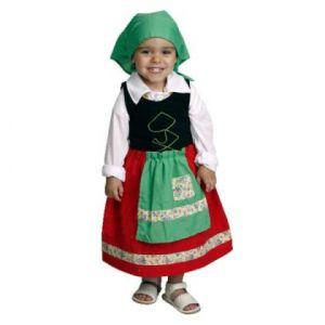 Disfraz pastora verde/rojo 1-2 y 3-4años