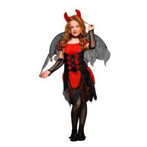 Disfraz diablesa con alas