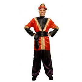Disfraz paje rojo adulto