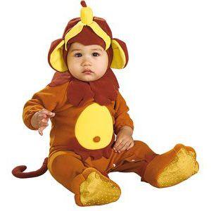 Disfraz bebe que monoo (pelele)