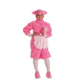 Disfraz cerdita rosa adulto
