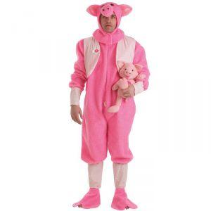 Disfraz cerdito rosa adulto