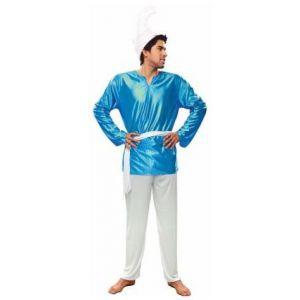 Disfraz enanito azul pitufo adulto