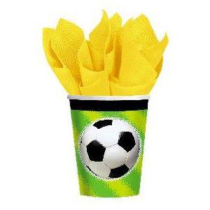 Vasos futbol (pack 8 unid.)