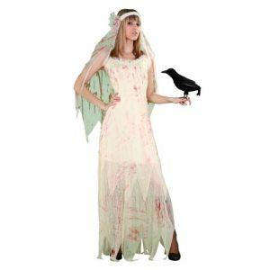 Disfraz novia cadaver sangre