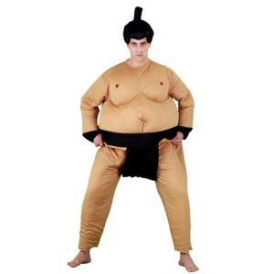Disfraz luchador sumo con peluca
