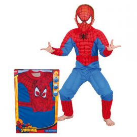 Disfraz spiderman musculoso niño caja