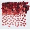 Confetti corazones rojos