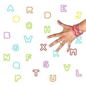 Pulseras locas letras surt (12 uds)