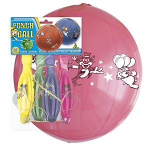Globos punch ball (pack 4 unid.)