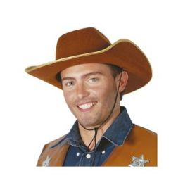 Sombrero vaquero ribete dorado