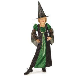Disfraz bruja chispitas verde